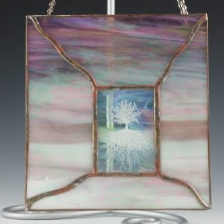 White Tree Mini Stained Glass Window - Designed by Artist Michelle Copeland