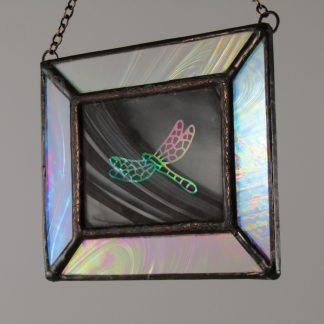Dragonfly Mini Stained Glass Window, Sm. by Michelle Copeland at ThistleGlass.com
