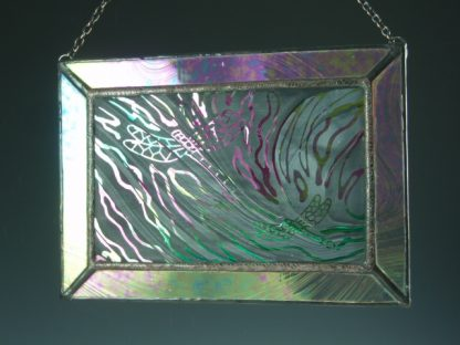 Lg. Dragonfly Stained Glass Mini Window