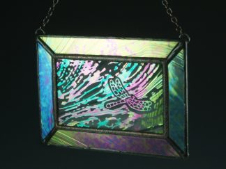 Dragonfly Stained Glass Mini Window - Designed by Artist Michelle Copeland at ThistleGlass.com