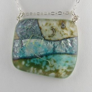 Abalone Pendant, Lg., Fused Glass Jewelry Designed by Artist Michelle Copeland at ThistleGlass.com