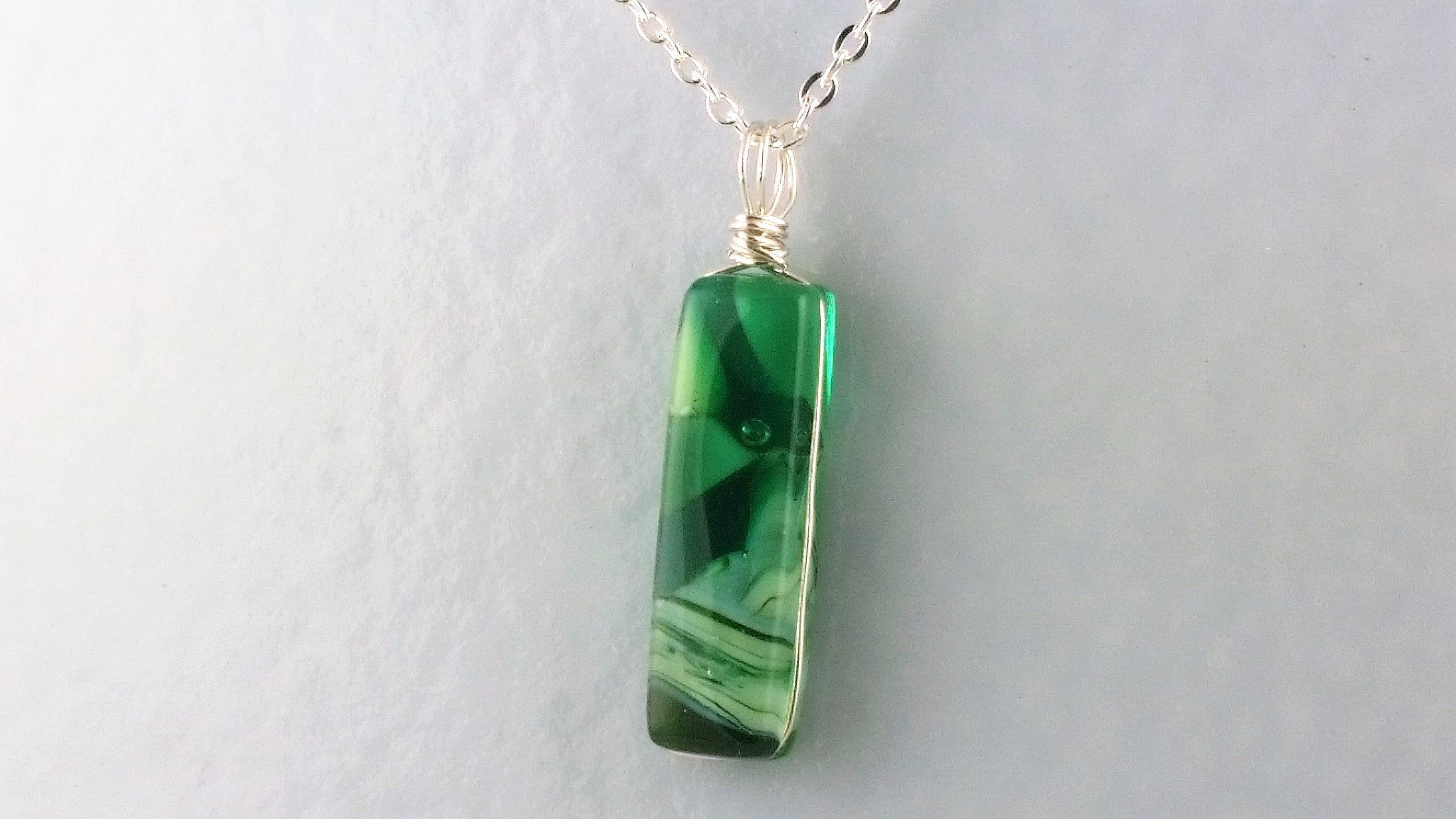 Reversible Glass Pendant by Michelle Copeland at Thistle Glass.com