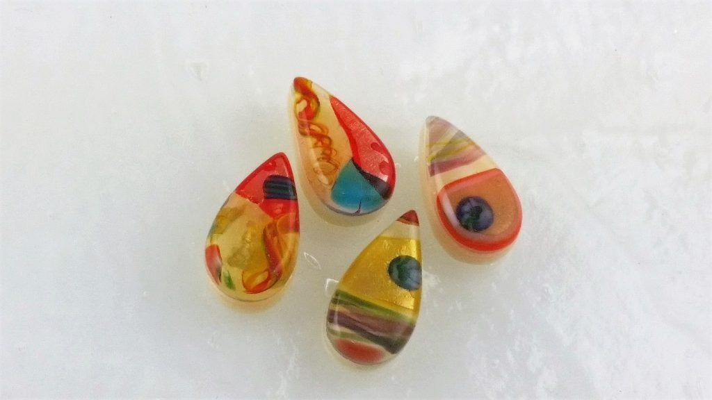 Fused Glass Cabochons - Designed by Michelle Copeland at ThistleGlass.com