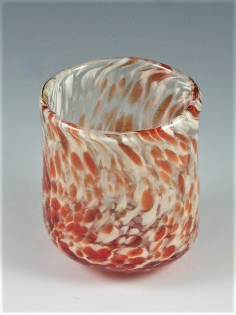 Blown Glass Tumbler - Created by Artist Michelle Copeland at ThistleGlass.com