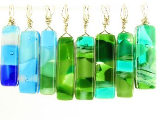 Reversible Glass Jewelry by Artist Michelle Copeland at www.ThistleGlass.com