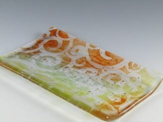 Fused Glass Dish - Designed by Artist Michelle Copeland at ThistleGlass.com