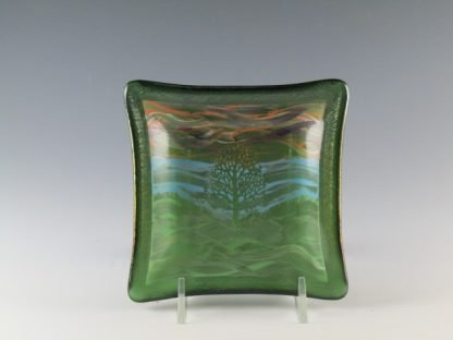 "Tree Dish - 5"" - Designed by Artist Michelle Copeland at ThistleGlass.com"