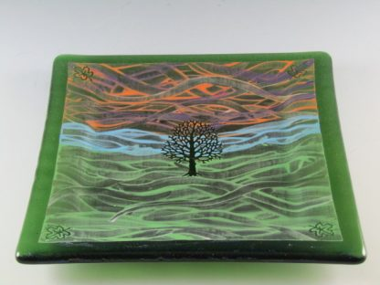"Tree Plate - 7"" - Designed by Artist Michelle Copeland at ThistleGlass.com"