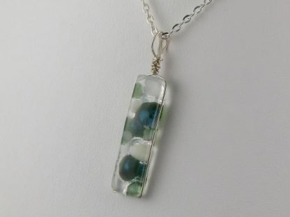 Reversible Iridescent Series, fused glass jewelry designed by Michelle Copeland at ThistleGlass.com