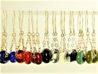 Charm Series - Glass & Silver Earrings Created by Artist Michelle Copeland at ThistleGlass.com