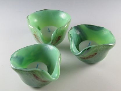 Fused Glass Tea Light Candle Holders - Designed by Artist Michelle Copeland at ThistleGlass.com