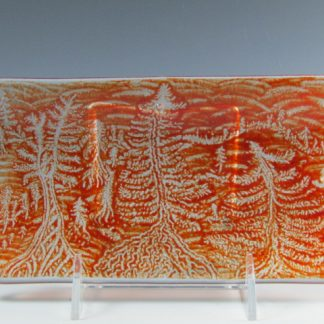 Fused Glass Tray or Candle Holder - Designed by Artist Michelle Copeland at ThistleGlass.com