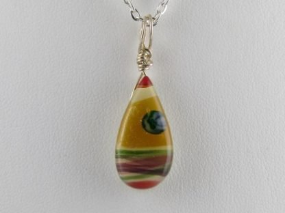 Drop Necklace, blown and fused glass designed by Michelle Copeland at ThistleGlass.com