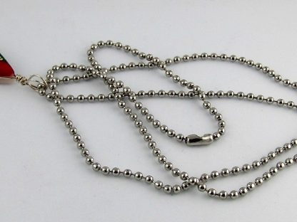 """Steel Ball Necklace Chain, 24"""", Chains and Cords offered by ThistleGlass.com"""