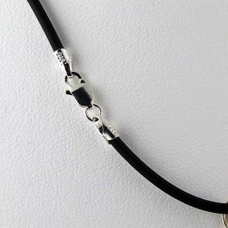 "Black Neoprene Necklace Cord, 18"", Chains and Cords offered by ThistleGlass.com"