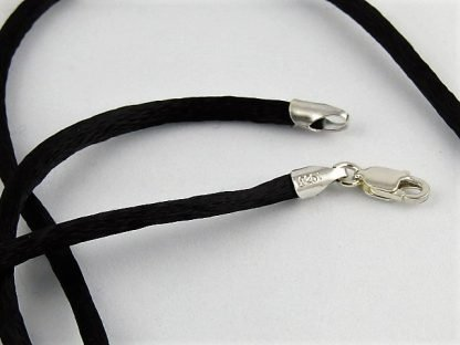 """Black Satin Necklace Cord, 18"""", Chains and Cords offered by ThistleGlass.com"""