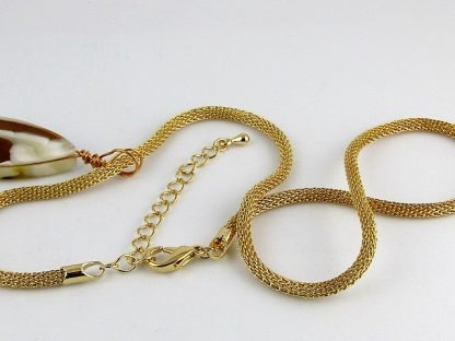"Gold Mesh Necklace, 16"" - 18"", Chains and Cords offered by ThistleGlass.com"