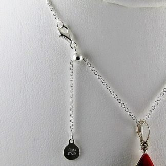 """Sterling Silver Necklace, 22"""" Adjustable, Chains and Cords offered by ThistleGlass.com"""