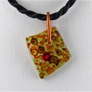 Red Note Bottle Necklace, Recycled glass jewelry designed by Michelle Copeland at ThistleGlass.com