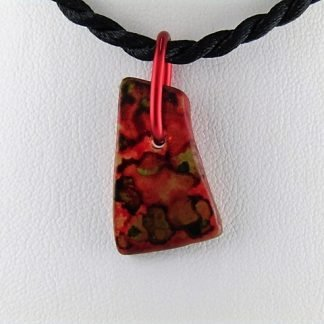 Mottle Bottle Necklace, Recycled glass jewelry designed by Michelle Copeland at ThistleGlass.com