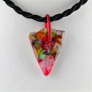 Merge Bottle Necklace, Recycled glass jewelry designed by Michelle Copeland at ThistleGlass.com