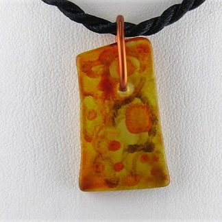 Honey Pop Bottle Necklace, Recycled glass jewelry designed by Michelle Copeland at ThistleGlass.com