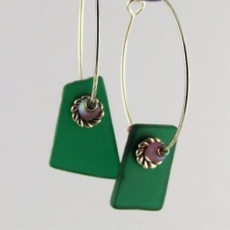 Stained Glass Hoop Earrings created by Michelle Copeland at ThistleGlass.com