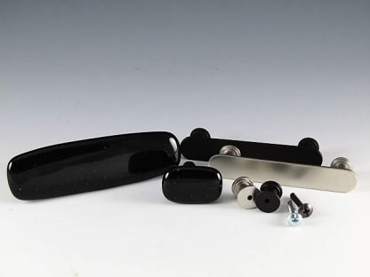 Black Fused Glass Handles and Knobs by Michelle Copeland at ThistleGlass.com