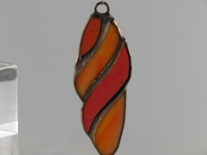 Wavy Stained Glass Ornament - Orange, designed by Michelle Copeland at ThistleGlass.com