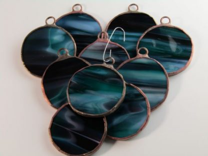 Round Stained Glass Ornament - Mixed, by Michelle Copeland at ThistleGlass.com