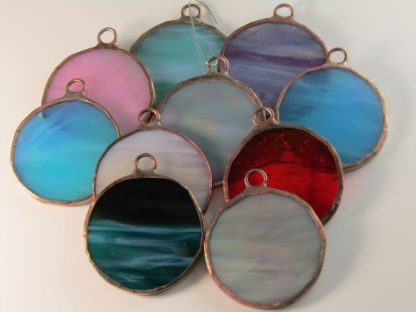 Round Stained Glass Ornaments by Michelle Copeland at ThistleGlass.com