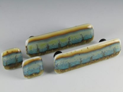 Landscape Fused Glass Knobs and Handles, by Michelle Copeland at ThistleGlass.com