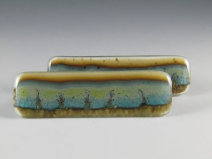 Landscape Fused Glass Handles, by Michelle Copeland at ThistleGlass.com